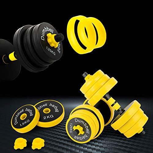 Joychoic Dumbbells-Dumbbell Set-Adjustable Dumbbells-Weights Dumbbells Set with Connecting Rod-Exercise & Fitness Dumbbells 2-in-1 Set-Non-Slip Neoprene Hand44LBS