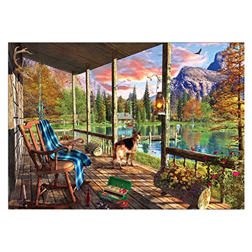 MomeDIY 5D Diamond Painting by Number Kits, Art Craft Embroidery Paintings Rhinestone Pasted DIY Diamond Painting Cross Stitch (Beautiful Landscape) (B) by MOME~Home Decorations (Image #1)