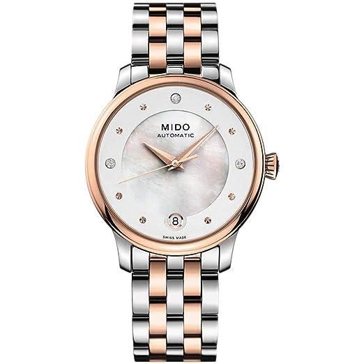 Mido Baroncelli Reloj de Mujer Diamante automático 29.9mm M039.207.22.106.00: Amazon.es: Relojes