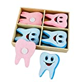 Airgoesin 16pcs Wooden Tooth Fridge Window Wall Sticker Dental Clinic Office Gift Cute