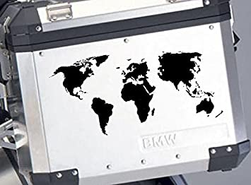 Amazon a of world map bike pannier style 2 black 18 inch die a of world map bike pannier style 2 black 18 inch die cut gumiabroncs Image collections