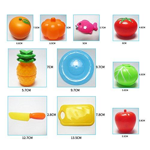 Good Jugar Comida 24 Piezas Diversion Cortar Frutas Verduras