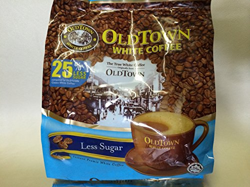 OLD Town (3 in 1)- Taste Premix White 25% Less Sugar Coffee- Don't Need Creamer & Sugar-make Your Life Easier - (35g - 40g) /Stick (25% Less Sugar), 525g (18.5 ()