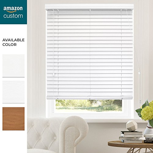 CHICOLOGY Custom-Made 2-Inch Faux Wood Blind, Simply White/Horizontal Window Shade/Inside Mount, 41.5'' W X 36'' H by CHICOLOGY (Image #5)