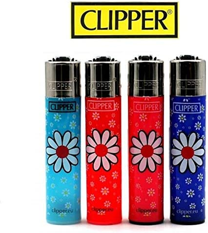 Daisies 6 Lot 4 Briquets Clipper rechargeables