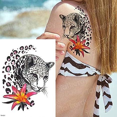 tzxdbh Tatuaje de Pantera Negra Tatuajes temporales en el Cuerpo ...