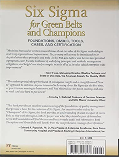 Amazon.com: Six Sigma for Green Belts and Champions: Foundations ...