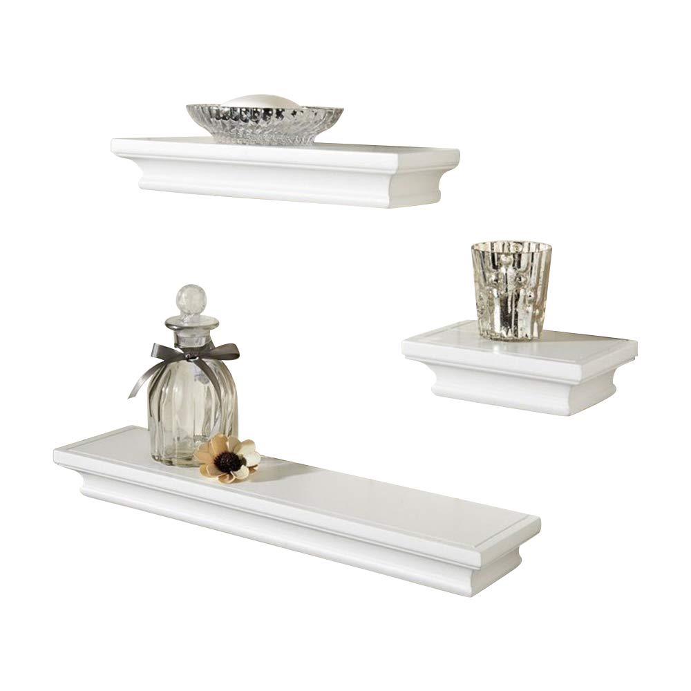 Royce ELEGANT SET OF 3 SHELVES (WHITE)
