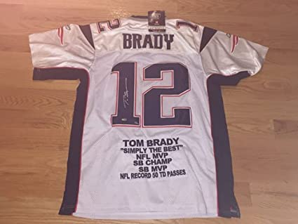 b479f39d9e0 Tom Brady Autographed Signed White Authentic Reebok Patriots Jersey NWT  Mounted Memories LIMITED EDITION 11/
