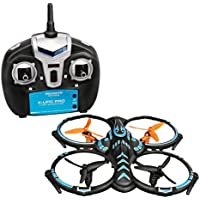 Dwi Dowellin Drone with HD Camera 480P Durable Quadcopter Aircraft 2.4Ghz 6 Axis Gyro RC Helicopter Small Blue