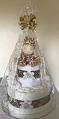 Newborn Unisex Baby Boy Girl Giraffe Nappy Cake Baby Shower New Mum Gift