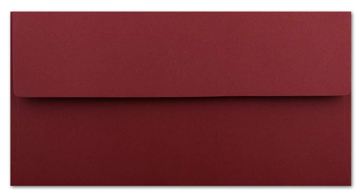 Ihr Gl/üxx-Agent 11 x 22 cm Einladungen zur Taufe 120 g//m/² Haftklebung Standard Brief-Kuverts 25 DIN Lang Brief-Umschl/äge Dunkelrot