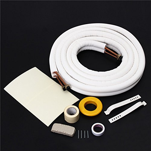 CoCocina Air Conditioner Tube 1/4 3/8 Insulated Copper Pipe 5m Air Conditioning Pipe