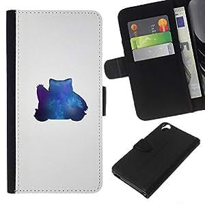 Stuss Case / Funda Carcasa PU de Cuero - Azul Pekemon - HTC Desire 820