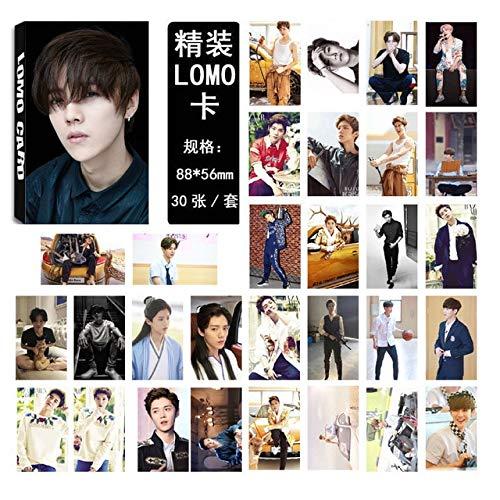 Laliva Kpop EXO چهارم WAR KOKOBOP آلبوم کارت های LOMO K-POP کارت ویزیت خود ساخته شده از مد جدید ، کارت ویزیت عکس HD HD ZP7 - (رنگ: LUHAN 03)