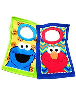 Sesame Street Elmo Toddler Baby Boys 2 Pack Bibs