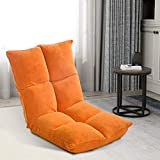 Merax Sofa Floor Chair Lazy Sofa Adjustable Five-position Multiangle Floor Gamer Chair Video Gaming Chairs for Kids (Orange)