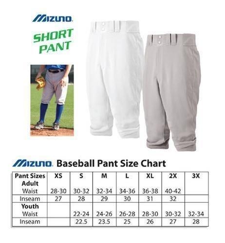 "Mizuno ""KNEE HIGH/SHORT"" Premier 15oz Baseball/Softball Pants (Two Pockets, Double Knees)"