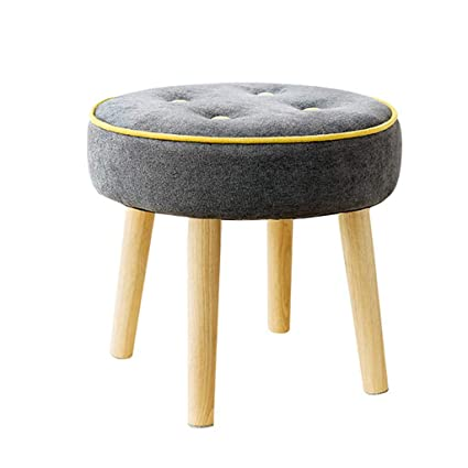Remarkable Amazon Com Round Small Stool Short Padded Ottoman Footrest Machost Co Dining Chair Design Ideas Machostcouk