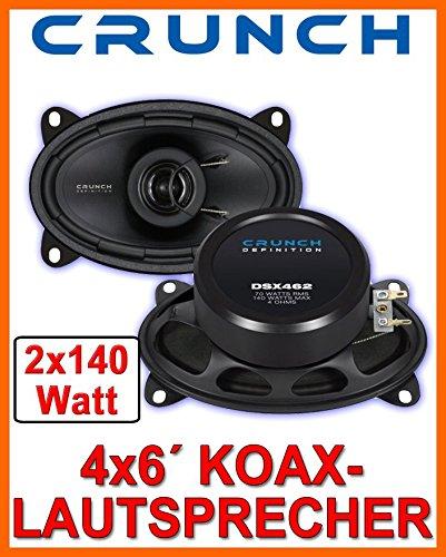 Crunch DSX462-4x6 Koax-System JUST SOUND best choice for caraudio Einbauset f/ür Skoda Fabia 1 6Y Kombi Combi Heck