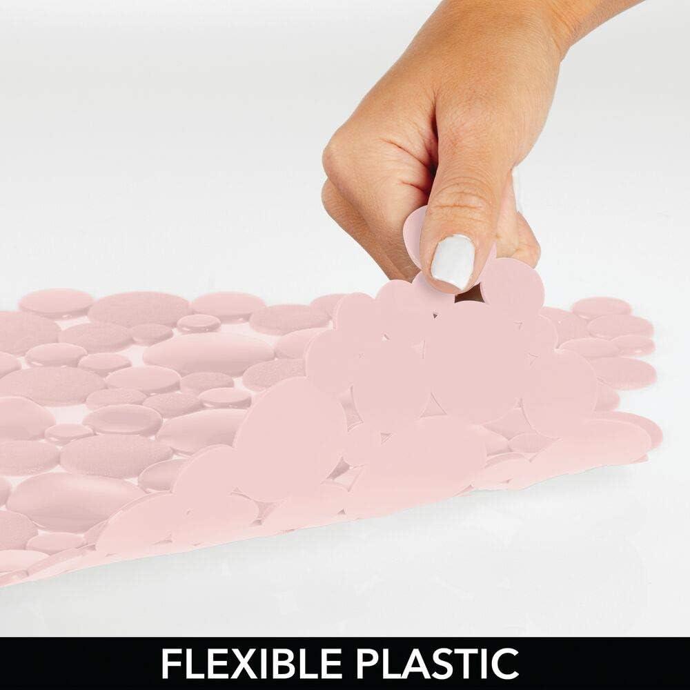 mDesign Alfombrilla Antideslizante Recortable Tapetes Protectores de PVC para la vajilla y el Fregadero Amarillo Claro Base para Fregadero Grande con dise/ño de Burbujas