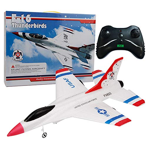 Wffo FX-823 2.4G 2CH RC Airplane Glider Remote Control Plane Outdoor Aircraft (White)