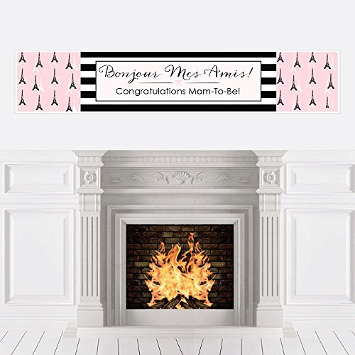 Big Dot of Happiness Paris, Ooh La La - Paris Themed Baby Shower Decorations Party Banner -