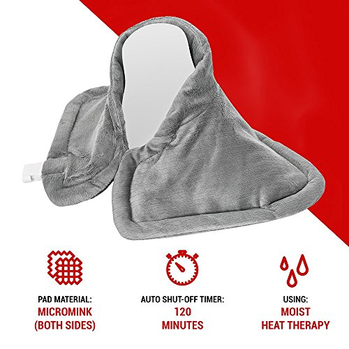 Neck Heating Pad, Electric Moist Dry Hot Pad Wrap for Neck Back Shoulder cramps and Sore Muscle Heat Pad Therapy, Heatpad with Auto Shut Off by Deneve (Image #3)