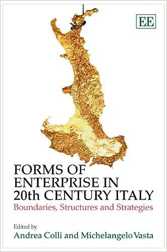 forms of enterprise in 20th century italy colli andrea vasta michelangelo