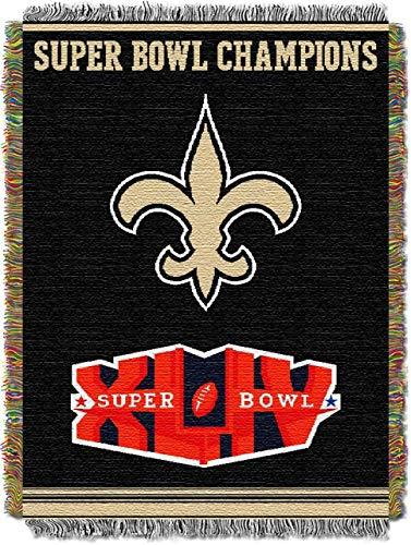 (Northwest New Orleans Saints Commerative Jacquard Woven Blanket)