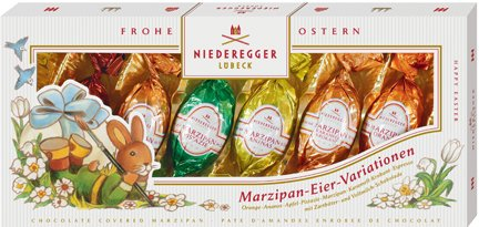 Niederegger Easter Egg Variations - 100g/3.5 oz