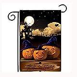 Gotd Custom Pumpkin Garden Flag 12x18 inch, Vintage Halloween Decorations (Black & orange)