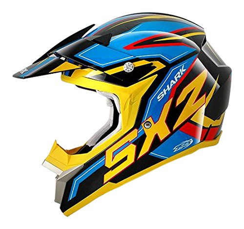 Shark Motorradhelm, Schwarz/Gelb/Blau, L