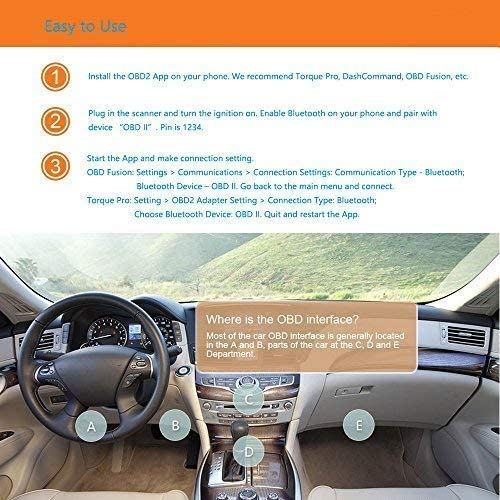 Veepeak Mini Bluetooth Obd2 Scanner Diagnostic Tools Car Diagnostic Engine Code Reader For Obd Ii Eobd Vehicles For Android Auto