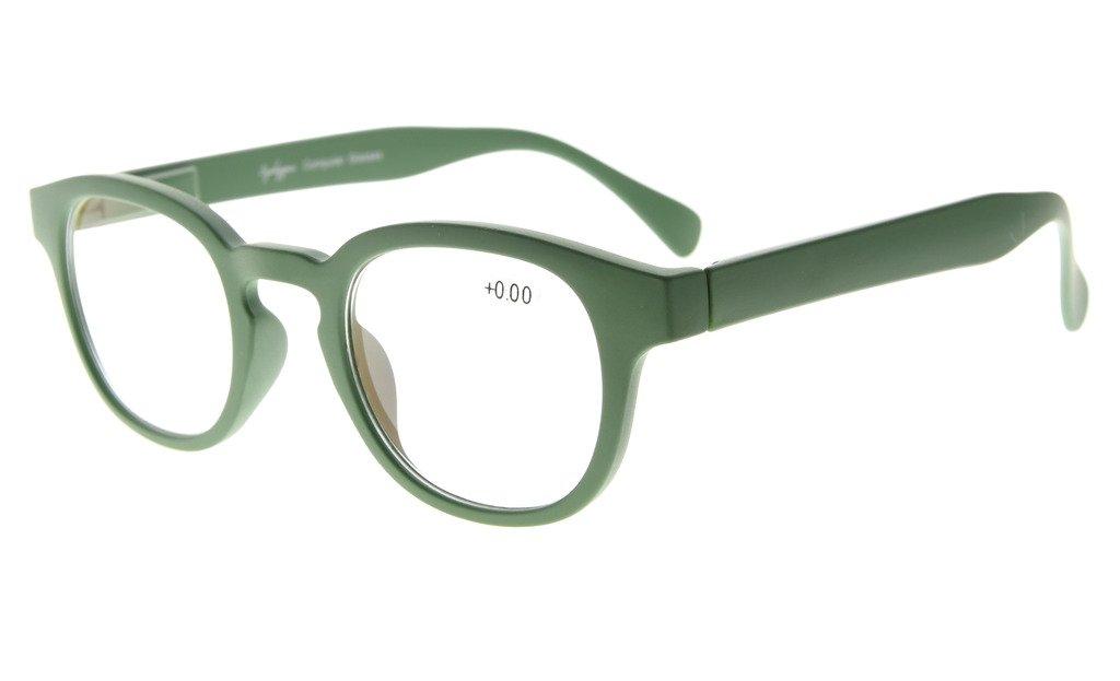 Eyekepper Donne Occhiali da Lettura Telaio Arcobaleno Lente Specchio (Verde Scuro, +1.25)