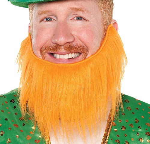 Amscan St. Patrick's Day Orange Leprechaun Beard | Party Accessory for $<!--$3.99-->
