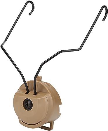 Bronceado Ichiias 1Pair Tactics para Sordin Type Headset Holder para Fast Helmet Rail Adapter Set