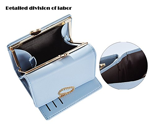 Leather Red SAIERLONG Holder Case Purse Blue Pu New Wallet wine Womens Clutch rTTHRpZUqX