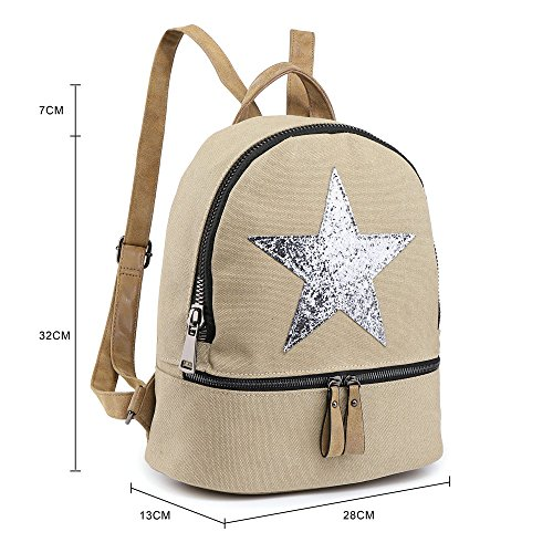 Star Backpack Girls SALE Canvas Travel Bag SALE Womens Designer Yellow Rucksack Designed Fashion New q6xYHR