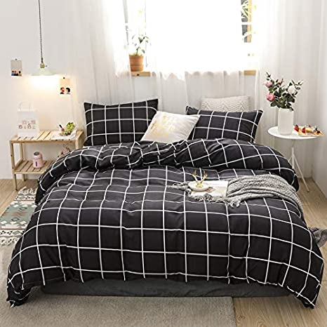 ANIMAL SKIN PRINTED DUVET Cover With Pillowcase Quilted Bedding Set Grey Black