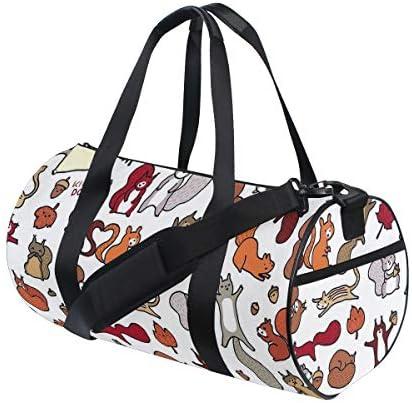 ボストンバッグ リス 動物 柄 ジムバッグ ガーメントバッグ メンズ 大容量 防水 バッグ ビジネス コンパクト スーツバッグ ダッフルバッグ 出張 旅行 キャリーオンバッグ 2WAY 男女兼用