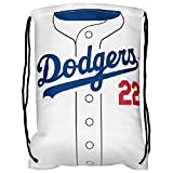 MLB Los Angeles Dodgerskershaw C. #22 Player Drawstring Backpack, Los Angeles Dodgers, One Size