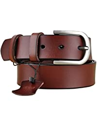 Genuine Leather Belts for Dresses, Women Leather Fashion Belts for Pants