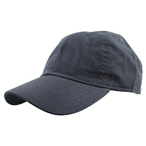 Falari Baseball Cap Hat 100% Cotton Adjustable Size Charcoal