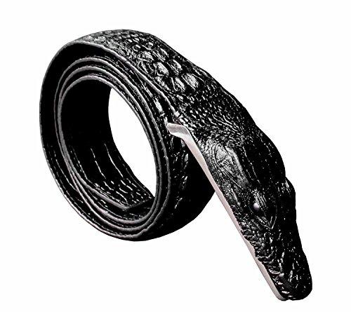 Faux Crocodile Belt (Mens Alligator Crocodile Head Style Biker Cool Belt Waistband)