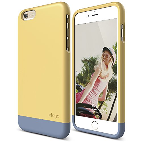 (iPhone 6 Plus Case, elago [Glide][Creamy Yellow/Royal Blue] - [Mix and Match][Premium Armor][True Fit] - for iPhone 6 Plus Only)