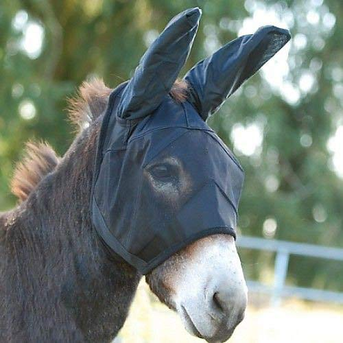 Cashel Quiet Ride Fly Mask With Extra Long Ears for Mule/Donkey - Small Quarter Horse/Arab/Cob by Cashel