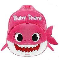 Mochila escolar Eabr para niños con diseño de tiburón, Rosado, One_Size