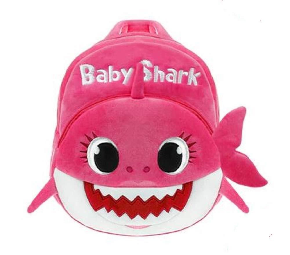 Kids School Backpack, Eabr Baby Shark School Bag for Children Kids Cute Plush School Backpack Boys Schoolbag (Blue)
