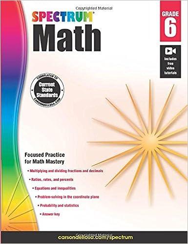 Spectrum Math Workbook, Grade 6
